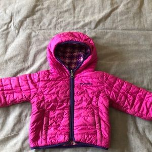 Columbia reversible winter jacket, girls size 2t